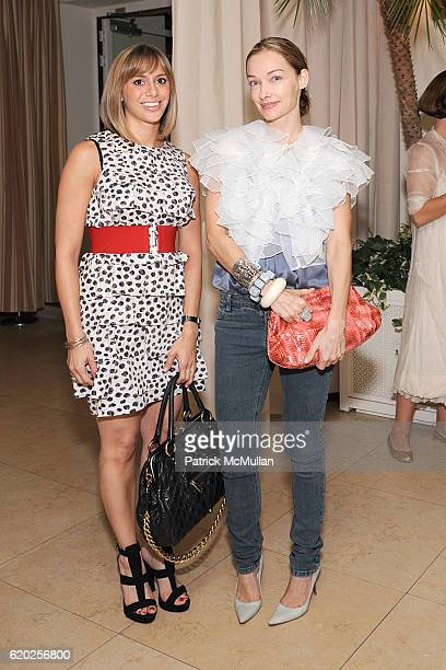 Lauren Urband and Kelly Wearstler attend Marcus Brauchli of the WALL STREET JOURNAL Holds a Dinner to Introduce Tina Gaudoin EditorInChief and to...