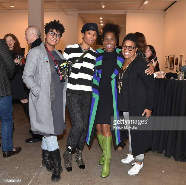 Lauren Warner Jodie Patterson Lorna Simpson and Allison Warner attend Artists For Equality at Sean Kelly Gallery on October 22 2018 in New York City