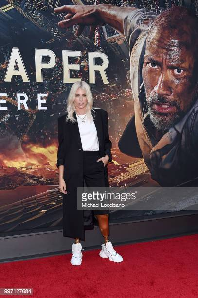 Lauren Wasser attends the 'Skyscraper' New York Premiere at AMC Loews Lincoln Square on July 10 2018 in New York City