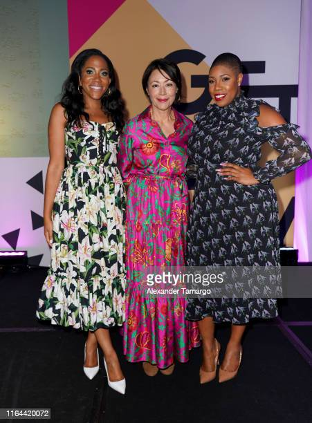 Lauren Wesley Wilson Ann Curry and Symone Sanders attend the ColorComm's 6th Annual Conference on July 26 2019 in Miami Florida