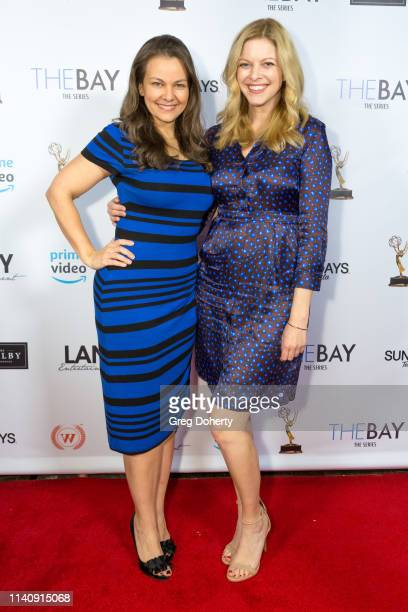 Lauren White and Hilary Barraford attend The Bay The Series PreEmmy Red Carpet Celebration at The Shelby on May 2 2019 in Los Angeles California