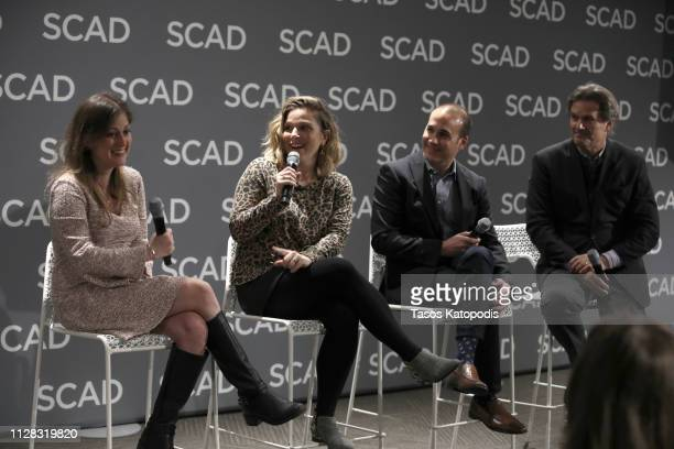 Lauren Williams Alexa Kahn Chris Davis and DW Moffett speak at the 'How To Get Ahead In Television' panel during SCAD aTVfest 2019 on February 08...