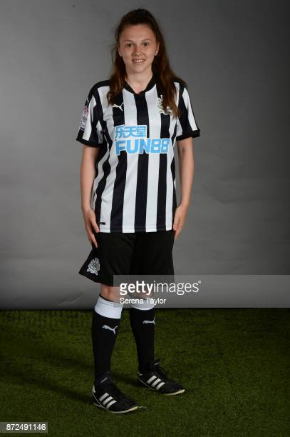 Lauren Wilson poses for photos during the Newcastle United Women's Team Photocall at The Newcastle United Academy on September 26 in Newcastle upon...