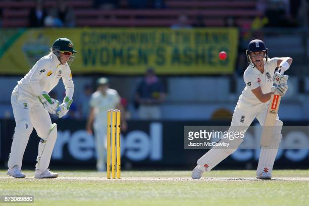 Lauren Winfield of England bats during day four of the Women's Test match between Australia and England at North Sydney Oval on November 12 2017 in...