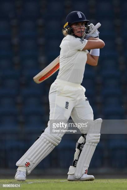 Lauren Winfield of England bats during day one of the Women's Tour match between England and the Cricket Australia XI at Blacktown International...