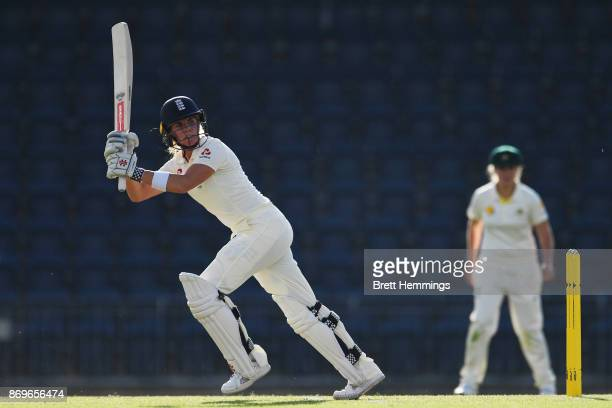 Lauren Winfield of England bats during day one of the Women's Tour match between England and the Cricket Australia XI at Blacktown International...