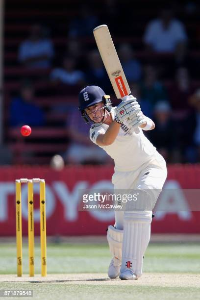 Lauren Winfield of England bats during the Women's Test match between Australia and England at North Sydney Oval on November 9 2017 in Sydney...