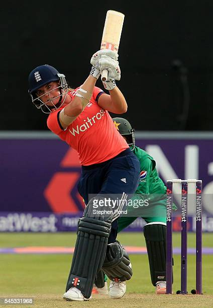 Lauren Winfield of England hits out during the Natwest Women's International T20 match between England Women and Pakistan Women at the Essex County...