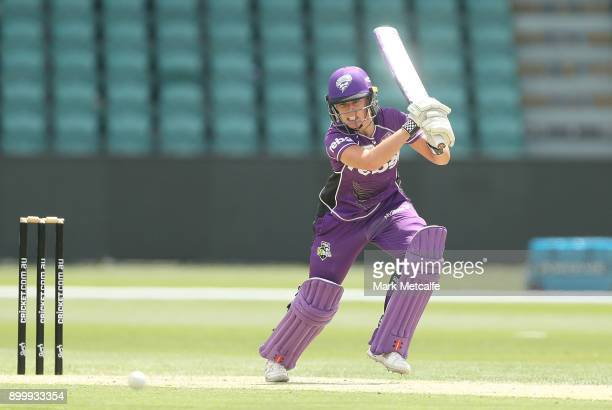 Lauren Winfield of the Hurricanes bats during the Women's Big Bash League match between the Sydney Thunder and the Hobart Hurricanes at the...
