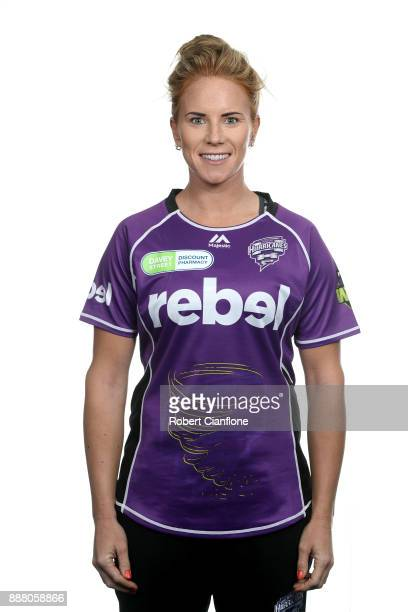 Lauren Winfield of the Hurricanes poses during the Hobart Hurricanes WBBL Headshots Session on December 4 2017 in Hobart Australia