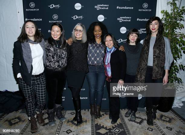 Lauren Wolkstein Angela C Lee Ruth Ann Harnisch Sabrina Schmidt Gordan Romona Diaz Eliza Hittman and Lana Wilson attend The Sundance Institute...