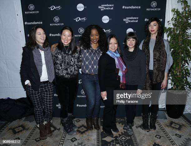 Lauren Wolkstein Angela C Lee Sabrina Schmidt Gordan Romona Diaz Eliza Hittman and Lana Wilson attend The Sundance Institute Refinery29 and DOVE...