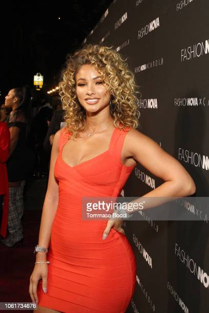 Lauren Wood attends the Fashion Nova x Cardi B Collaboration Launch Event at Boulevard3 on November 14 2018 in Hollywood California