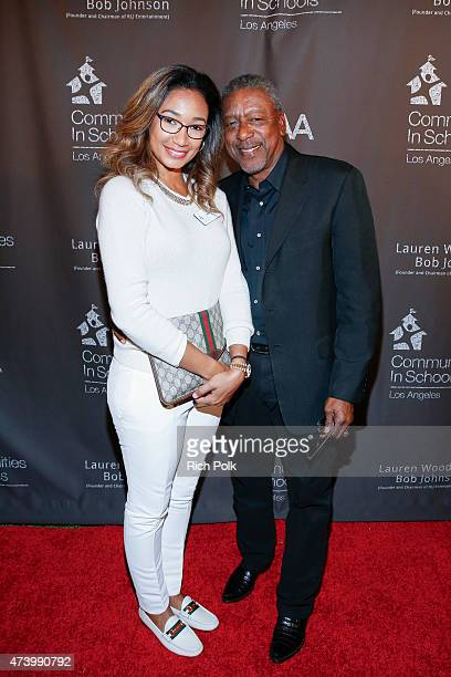 Lauren Wooden and Bob Johnson attend the Communities In Schools Of Los Angeles Annual Gala on May 18 2015 in Pacific Palisades California