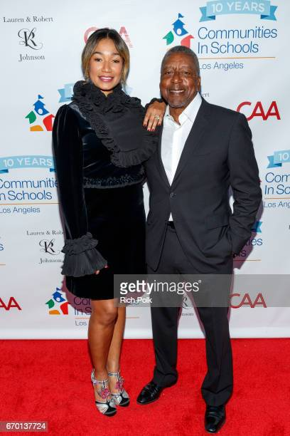 Lauren Wooden Johnson and Bob Johnson attend the Communities In School LA Gala on April 18 2017 in Los Angeles California