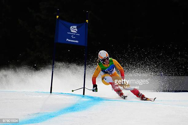 Lauren Woolstencroft of Canada competes in the Women's Standing Combined SuperG during Day 9 of the 2010 Vancouver Winter Paralympics at Whistler...