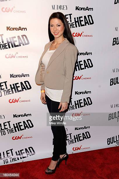 Lauren Zhou Weinberger attends KoreAm Journal and Audrey Magazine's advanced screening of 'Bullet To The Head' at CGV Cinemas on January 31 2013 in...