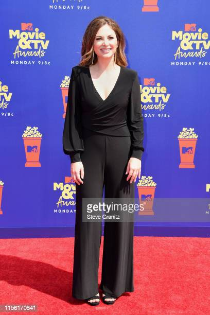 Lauren Zima attends the 2019 MTV Movie and TV Awards at Barker Hangar on June 15 2019 in Santa Monica California