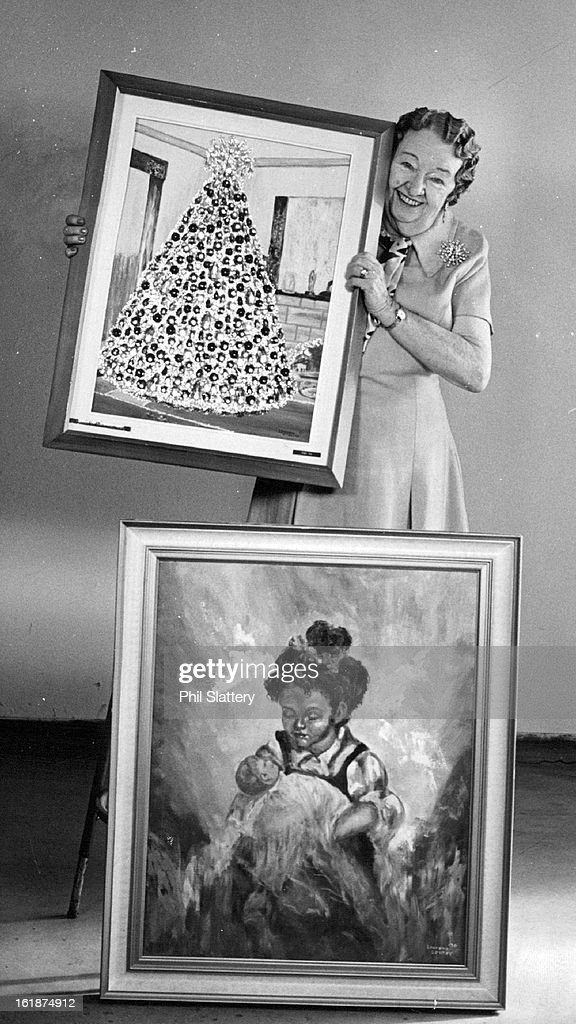 AUG 31 1972, SEP 6 1972; Laurena Senter Shows Some Of Her Paintings; She will offer them at Saturday : News Photo
