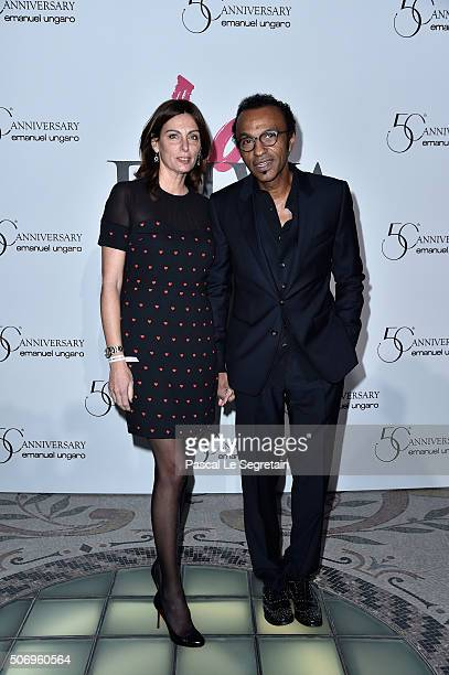 Laurence and Manu Katche attend the Launch Of The New Fragrance 'La Diva' And 50th Anniversary Of Emanuel Ungaro at Le Petit Palais on January 26...