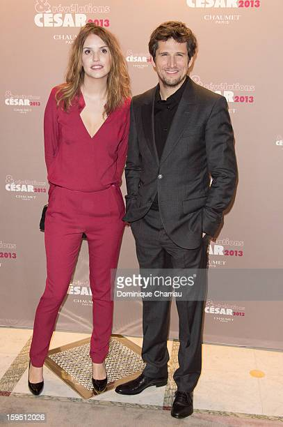 Laurence Arne and Guillaume Canet Attend the 'Cesar's Revelations 2013' Dinner Arrivals at Le Meurice on January 14 2013 in Paris France