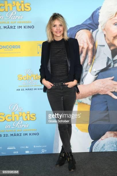 Laurence Arne attends the 'Die Sch'tis in Paris' photo call at Hotel Bayerischer Hof on March 12 2018 in Munich Germany