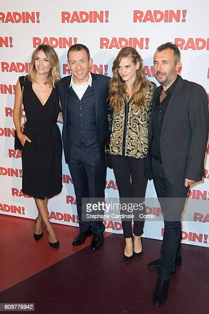 Laurence Arne Dany Boon Noemie Schmidt and Fred Cavaye attend the 'Radin' Paris Premiere at Cinema Gaumont Opera on September 22 2016 in Paris France