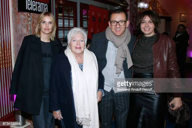 Laurence Arne Line Renaud Dany Boon and Valerie Bonneton attend Depardieu Chante Barbara at Le Cirque D'Hiver on November 12 2017 in Paris France