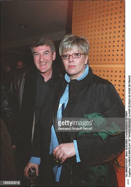 Laurence Boccolini and 'Patrick Prejean' celtic night in Stade De France