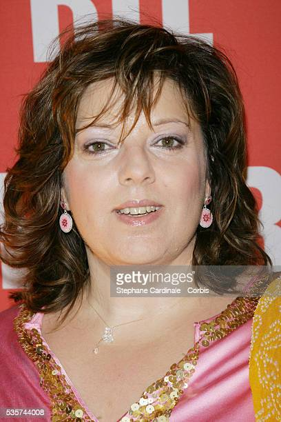 Laurence Boccolini attends the party for the 30th anniversary of radio show 'Les Grosses Tetes' held at the Eiffel Tower in Paris
