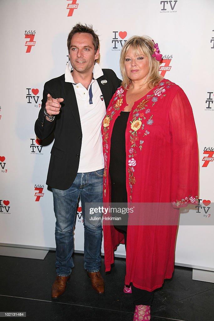 Laurence Boccollini and her husband attend the 1st edition of 'La Fete de la Tele' at Le Showcase on June 15, 2010 in Paris, France.