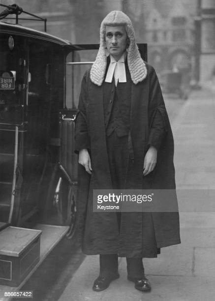 Laurence Byrne leaves the Law Courts in London after being sworn in as a judge of the Divorce Division 19th November 1945