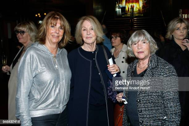Laurence Charlebois Marie Dabadie and MarieFrance Grillere attend Sylvie Vartan performs at Le Grand Rex on April 14 2018 in Paris France