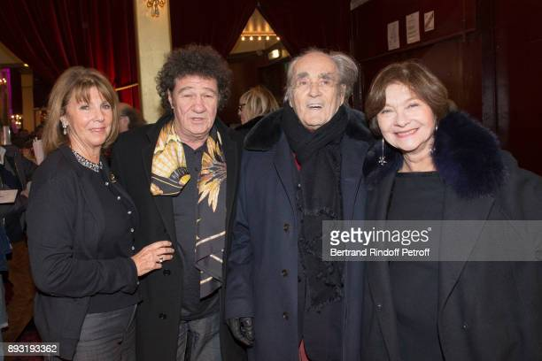 Laurence Charlebois Robert Charlebois Michel Legrand and Macha Meril attend 'Michel Leeb 40 ans' Theater Show at Casino de Paris on December 14 2017...