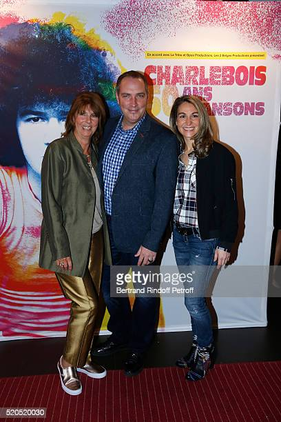 Laurence Charlebois wife of Robert Hypnotist Messmer and his wife attend the Robert Charlebois 50 ans 50 chansons Concert at Bobino on April 11 2016...