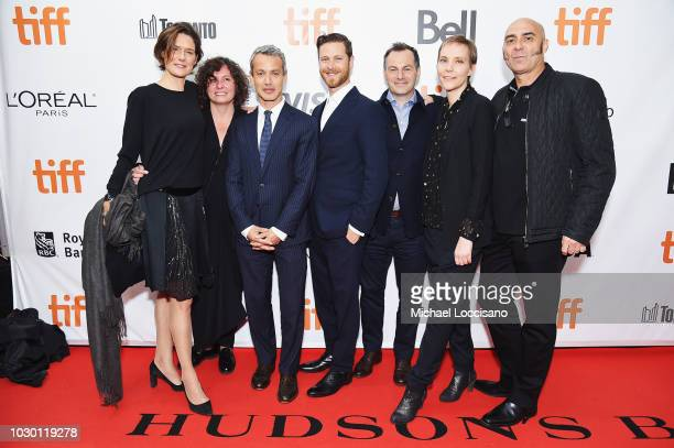 Laurence Clerc Klaudia Smieja Andrew Lauren DJ Gugenheim Oliver Dungey Claudia Steffen and Olivier Thery Lapiney attend the High Life premiere during...