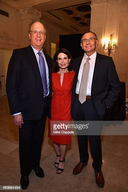 Laurence D Fink Lori Fink and Dr Hersch Leon Pachter attend NYU Langone Medical Center's Perlmutter Cancer Center Gala at The Plaza Hotel on October...