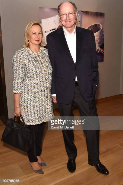 Laurence de Gaulle and Yves de Gaulle attend photography exhibition book launch 'Africa Serena 30 Years Later' on January 24 2018 in London United...