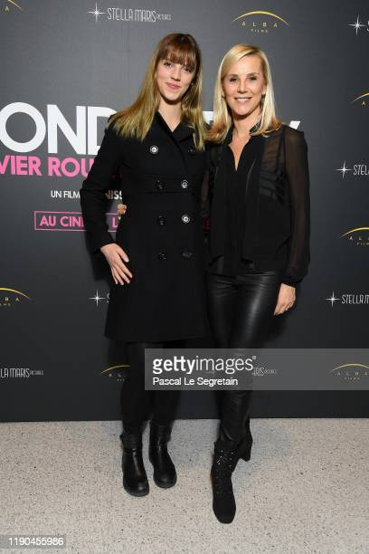 Laurence Ferrari and her daughter Laetitia Hugues attend Wonder Boy Olivier Rousteing Ne Sous X Photocall At Assemblee Nationale on November 27 2019...