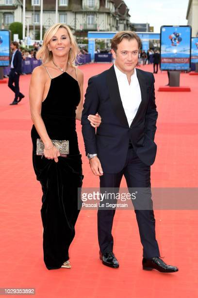 Laurence Ferrari and Renaud Capucon attend closing ceremony of the 44th Deauville American Film Festival on September 8 2018 in Deauville France