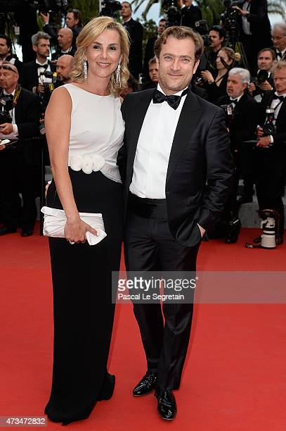 Laurence Ferrari and Renaud Capuçon attend the Premiere of Irrational Man during the 68th annual Cannes Film Festival on May 15 2015 in Cannes France