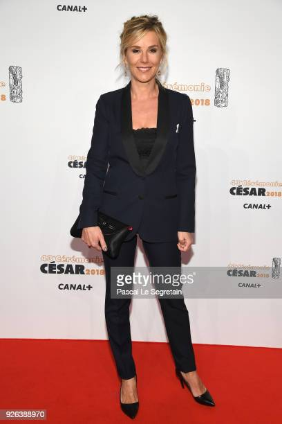 Laurence Ferrari arrives at the Cesar Film Awards 2018 at Salle Pleyel on March 2 2018 in Paris France
