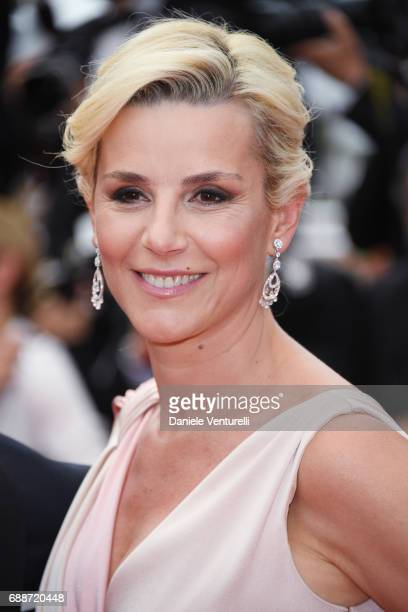 Laurence Ferrari attends 'Amant Double ' Red Carpet Arrivals during the 70th annual Cannes Film Festival at Palais des Festivals on May 26 2017 in...