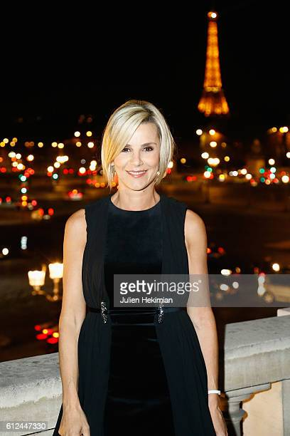 Laurence Ferrari attends Lonchamp dinner as part of the Paris Fashion Week Womenswear Spring/Summer 2017 at Longchamp Boutique St Honore on October 4...