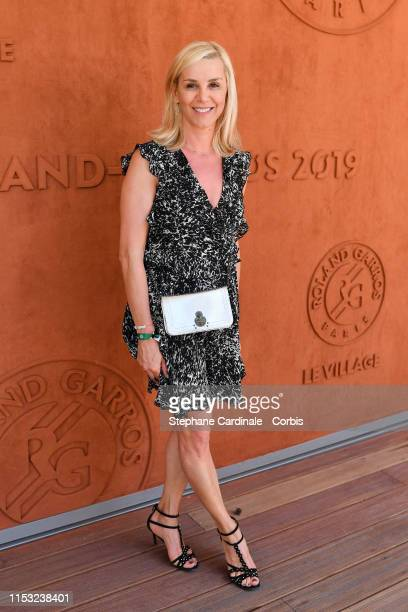 Laurence Ferrari attends the 2019 French Tennis Open Day Eight at Roland Garros on June 02 2019 in Paris France