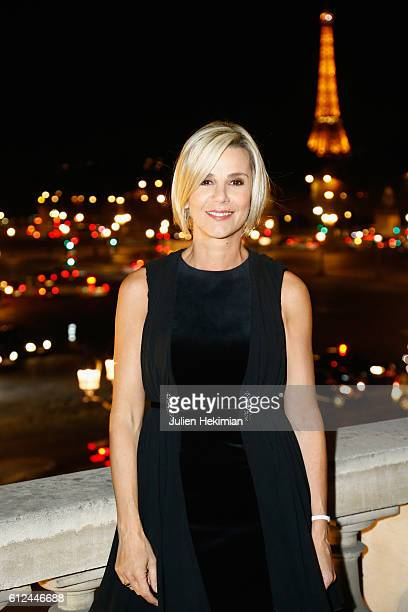 Laurence Ferrari attends the Lonchamp Cocktail as part of the Paris Fashion Week Womenswear Spring/Summer 2017 at Longchamp Boutique St Honore on...