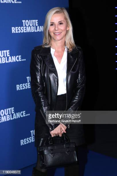 Laurence Ferrari attends the Toute Ressemblance photocall at UGC Cine Cite Les Halles on November 25 2019 in Paris France