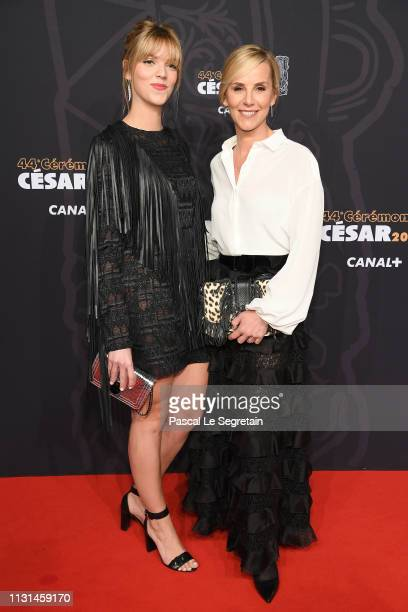 Laurence Ferrari with her daughter Laetitia Hugues attend Cesar Film Awards 2019 at Salle Pleyel on February 22 2019 in Paris France