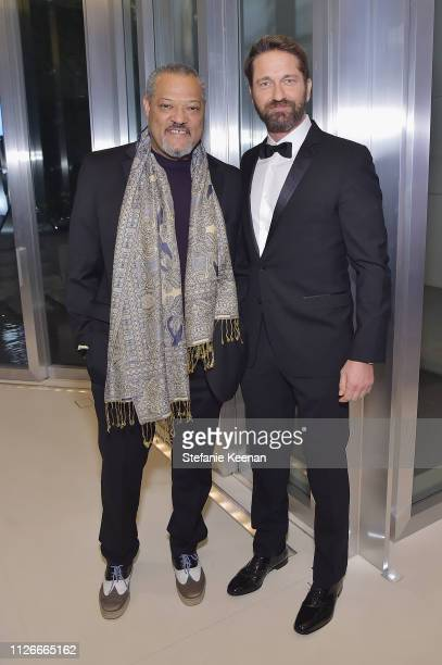 Laurence Fishburne and Gerard Butler attend the UCLA IoES honors Barbra Streisand and Gisele Bundchen at the 2019 Hollywood for Science Gala on...