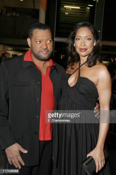 Laurence Fishburne and Gina Torres during Fox Searchlight Pictures Presents the Los Angeles Premiere of I Think I Love My Wife at Arclight Theater in...